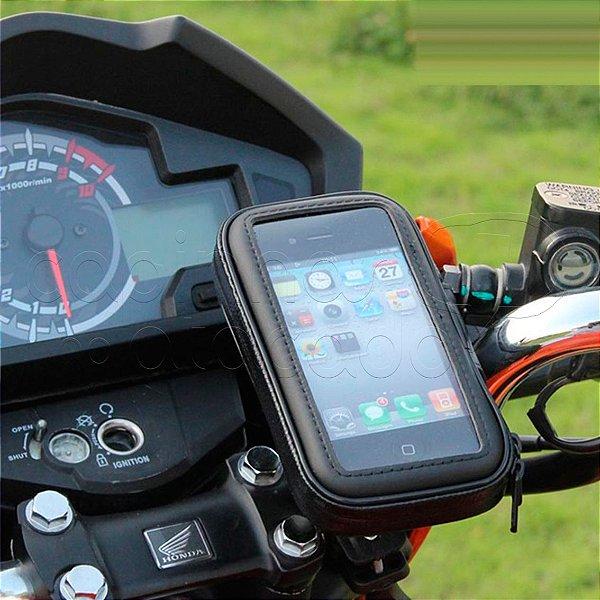 Suporte de Celular Impermeável para Bicicleta e Moto