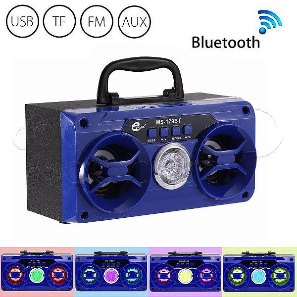 Caixa de Som Bluetooth Portátil MS179BT - Cores Sortidas