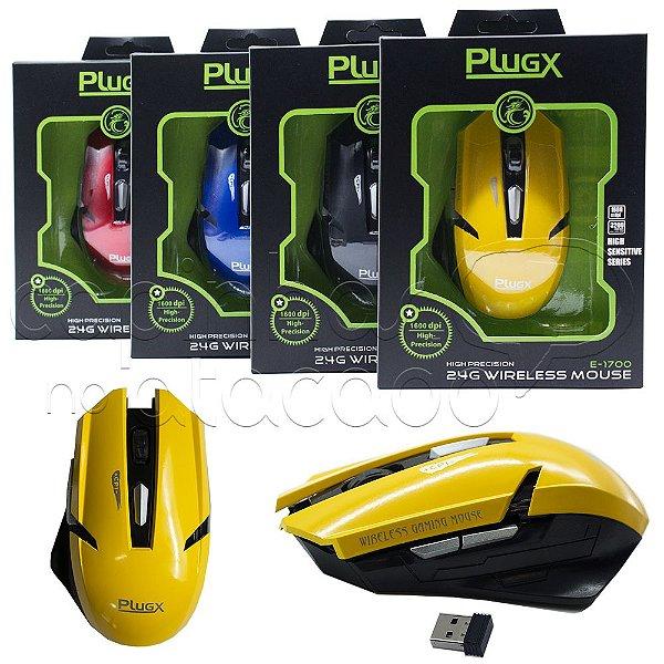 Mouse Wireless Gaming E-1700 - Cores Sortidas