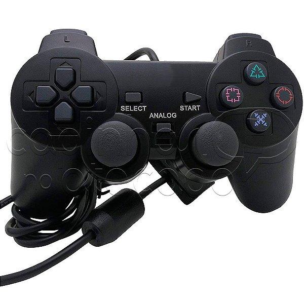 Controle com Fio para PS2 com Blister