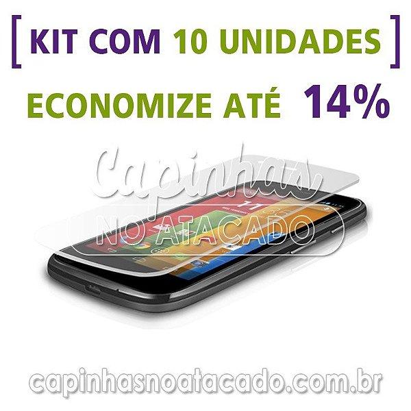 Kit com 10 Películas de Vidro Temperado para Motorola Moto E
