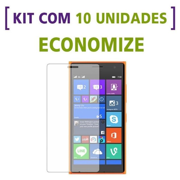 Kit com 10 Películas de Vidro Temperado para Nokia N530