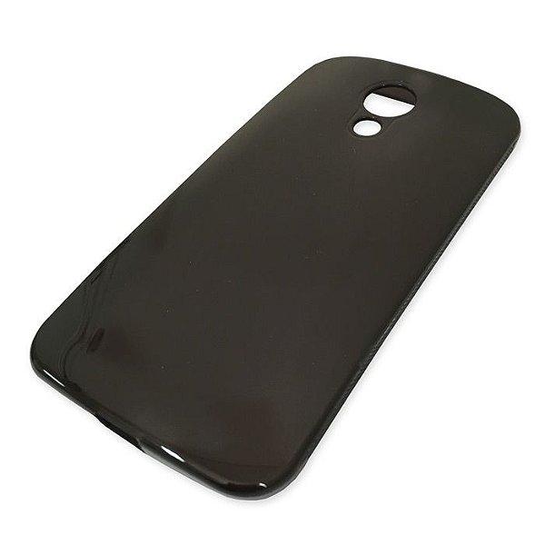 Capa de Silicone TPU Fumê para Motorola Moto G (2ª Geração)