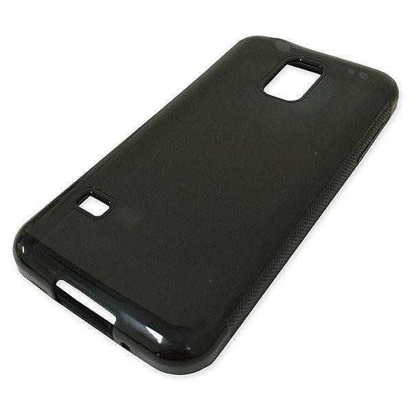 Capa de Silicone TPU Fumê para Samsung Galaxy S5 mini G800