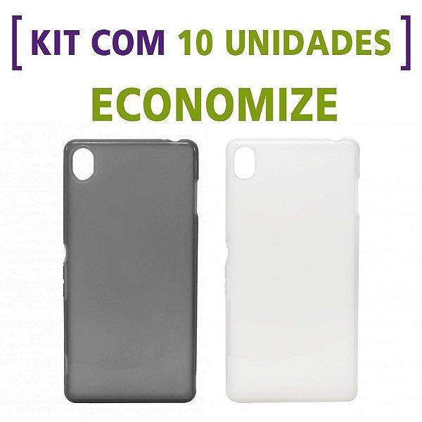 Kit com 10 Capas de Silicone TPU Transparente ou Fumê para Sony Xperia Z3