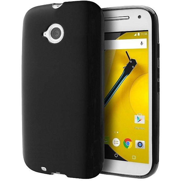 Capa de Silicone TPU Fumê para Motorola Moto E (2ª Geração)