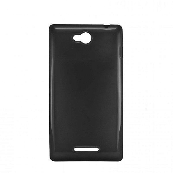 Capa de Silicone TPU Fumê para Sony Xperia C - S39H