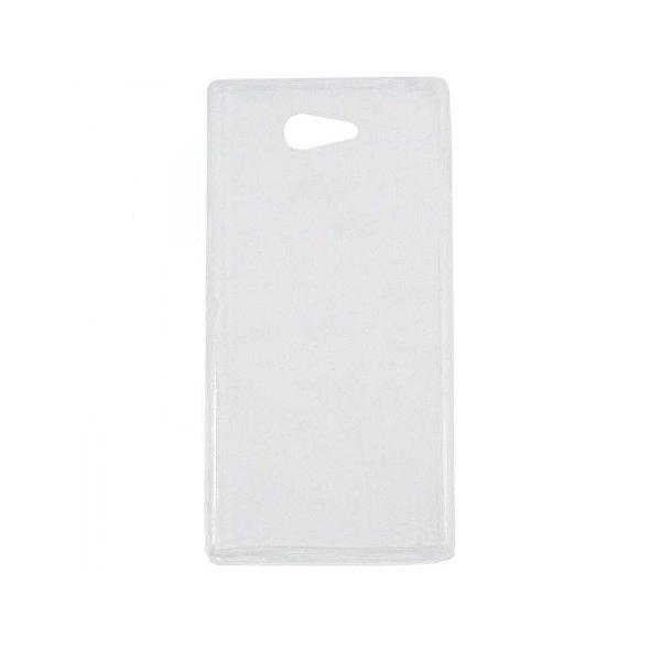 Capa de Silicone TPU Transparente para Sony Xperia M2 Aqua