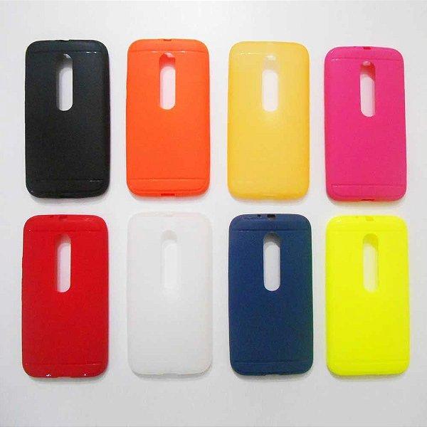 Capa para Motorola Moto G 3ª Geração - Simple Color - Cores Sortidas