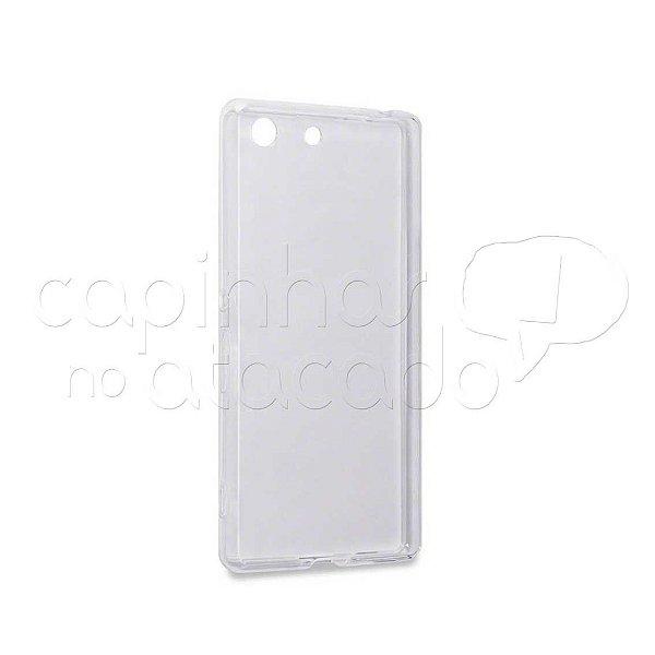 Capa de Silicone TPU Transparente para Sony Xperia M5