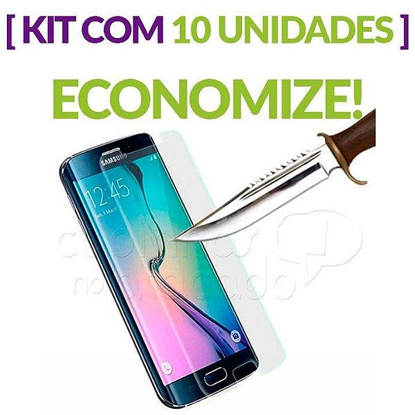 Kit com 10 Películas de Vidro Central para Samsung Galaxy S6 Edge Plus
