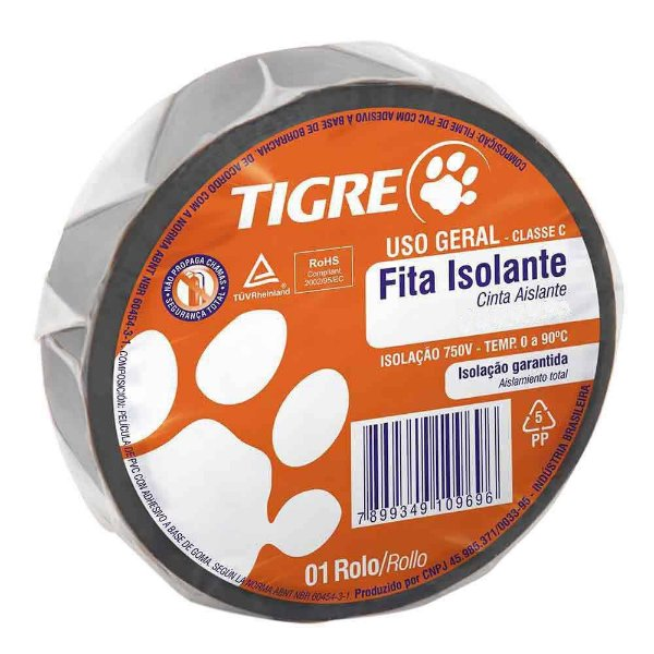 Fita Isolante uso geral 10m Tigre