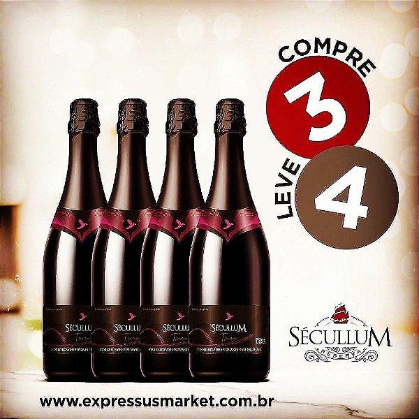 Compre 3 e Leve 4 Garrafas de Vinhos Sécullum Rosado Brut Tsuru