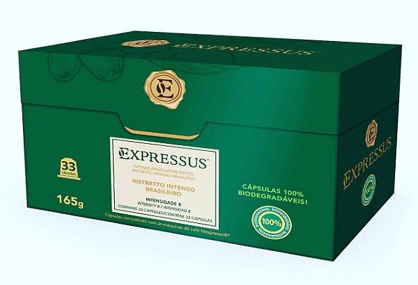 Cápsulas de Café Expressus Biodegradáveis - Ristretto Intenso C/ 33 Cápsulas