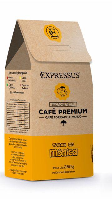Café Expressus Turma da Mônica Premium Torrado e Moido 250g. (Na compra de 2 Unidades a 3 Unidade é Grátis).