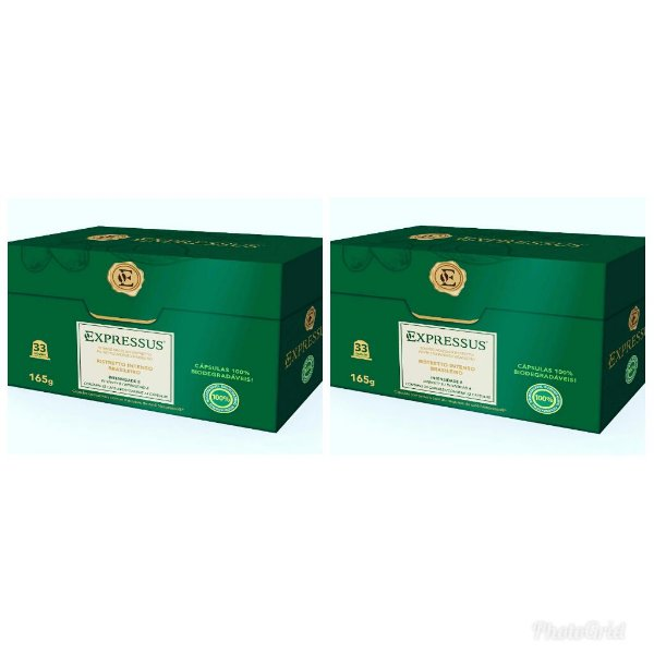 Kit Cápsulas de Café Expressus Biodegrádavel Ristretto Brasileiro C/66 cápsulas (Ganhe grátis mais 66 cápsulas).