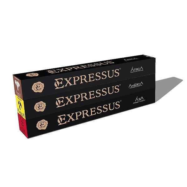 Kit C/30 Cápsulas de Café Expressus Nações