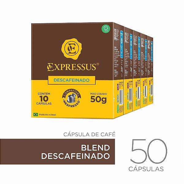 Kit c/50 Cápsulas de Café Origens Brasileiras Blend Descafeinado