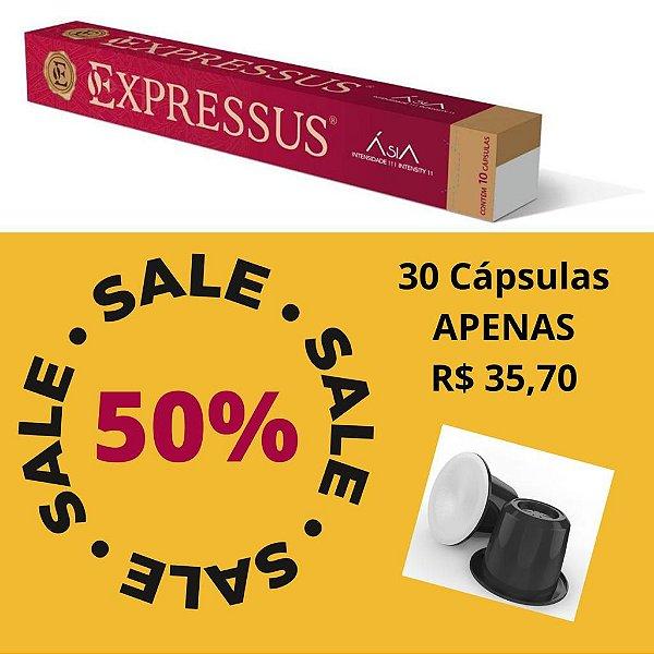 Kit C/30 Cápsulas de Café Expressus Nações Ásia