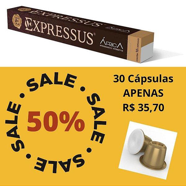 Kit C/30 Cápsulas de Café Expressus Nações África