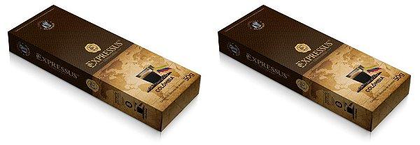 Kit C/20 Cápsulas de Café Expressus Gold Blend Colômbia - Cápsulas de Alumínio