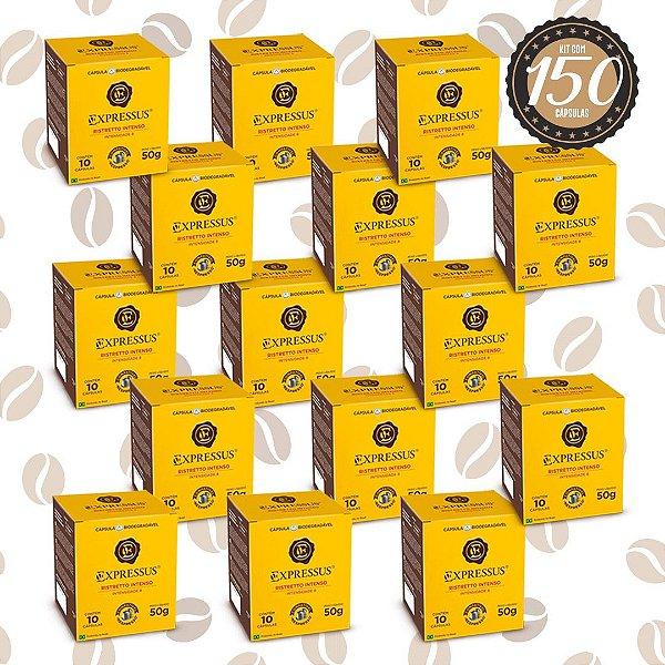 Kit C/150 Cápsulas de Café Expressus Biodegradável Intenso