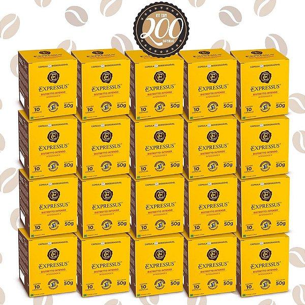 Kit C/200 Cápsulas de Café Expressus Biodegradável Intenso