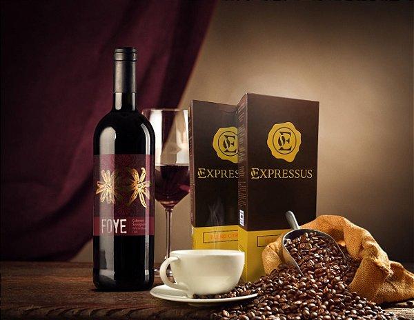 Kit 20 Cápsulas de Café Expressus - Blend Cítrico + 1 Vinho Foye Cabernet Sauvignon 2014