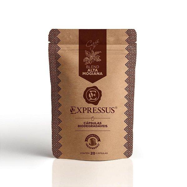 20 Cápsulas de Café Expressus Biodegradáveis Kraft Alta Mogiana
