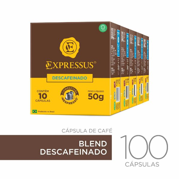 Kit c/100 Cápsulas de Café  Origens Brasileiras Blend Descafeinado