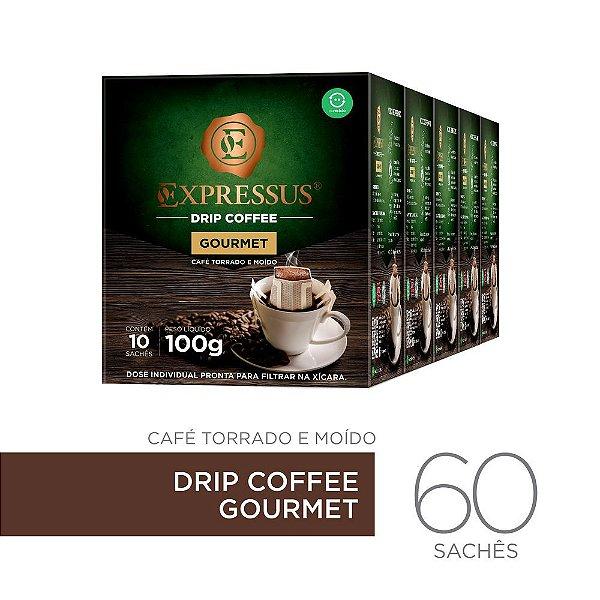 Kit c/60 Sachês de Café Drip Coffee - Blend Gourmet