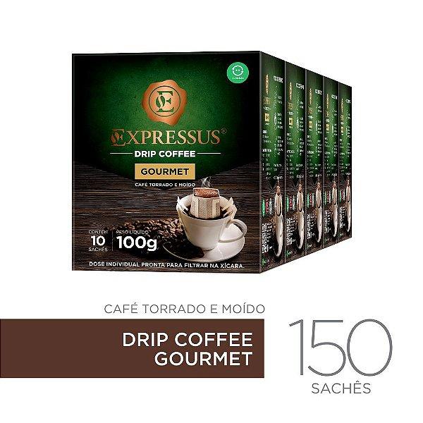 Kit c/150 Sachês de Café Drip Coffee - Blend Gourmet