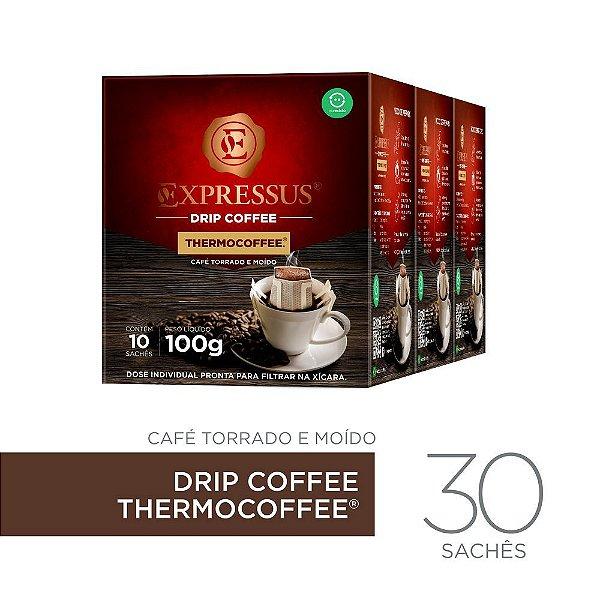Kit c/30 Sachês de Café Drip Coffee - Blend Thermocoffee