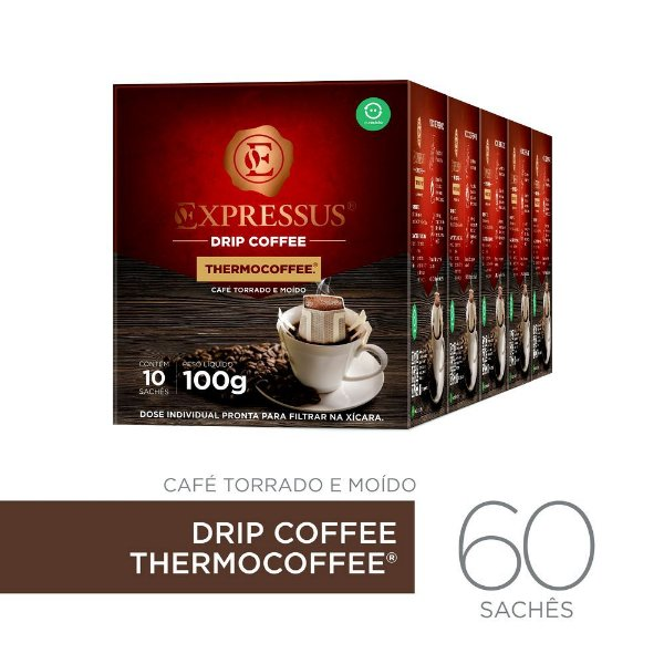 Kit c/60 Sachês de Café Drip Coffee - Blend Thermocoffee