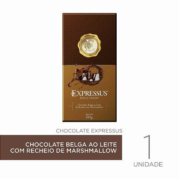Barra de Chocolate  Kakaw Belga ao Leite com Recheio de Marshmallow