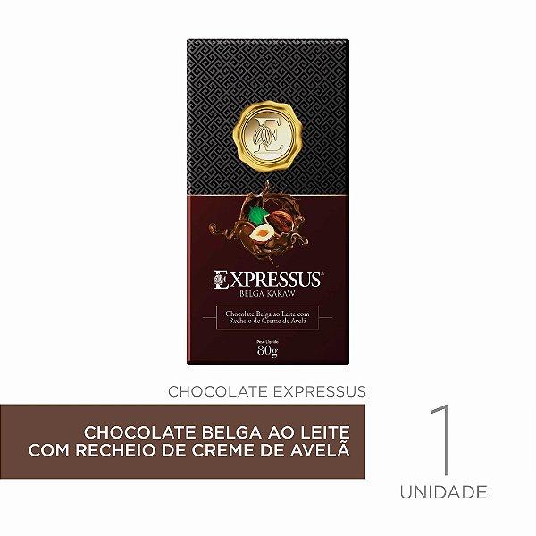 Barra de Chocolate  Kakaw Belga com Recheio de Creme de Avelã