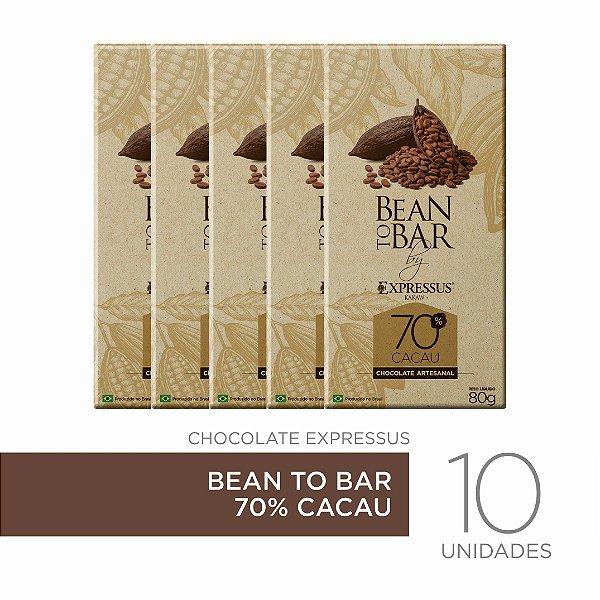 Kit c/10 Barras de Chocolate Bean To Bar 70% de Cacau