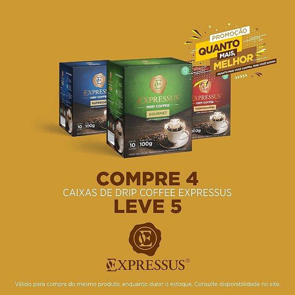Compre 4 Leve 5 Caixas de Café Expressus Drip Coffee - Blend Gourmet