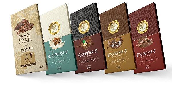 Kit c/5 Barras de Chocolate Expressus Kakaw