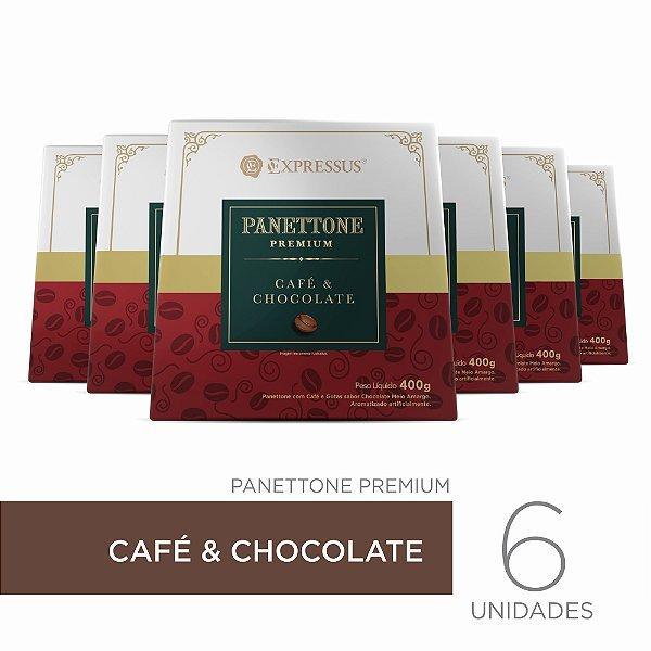 Kit c/6 Caixas de Panettone Expressus Premium - Café & Chocolate