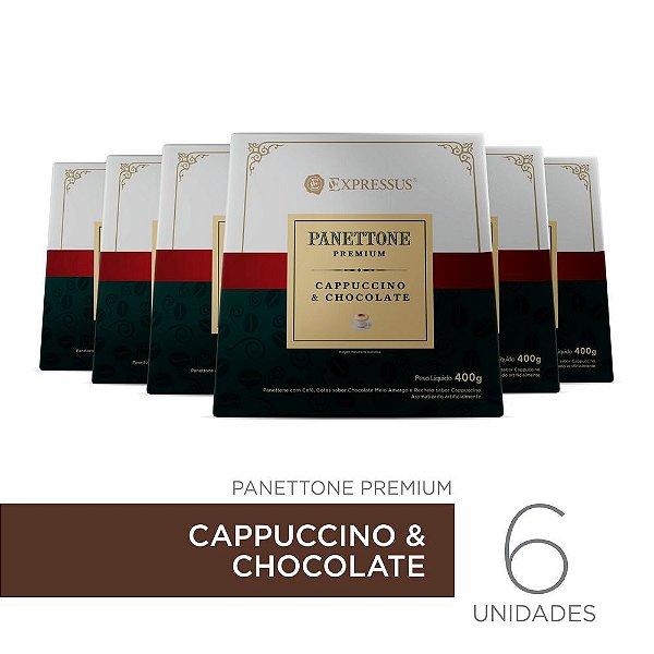 Kit c/6 Caixas de Panettone Expressus Premium - Cappuccino & Chocolate