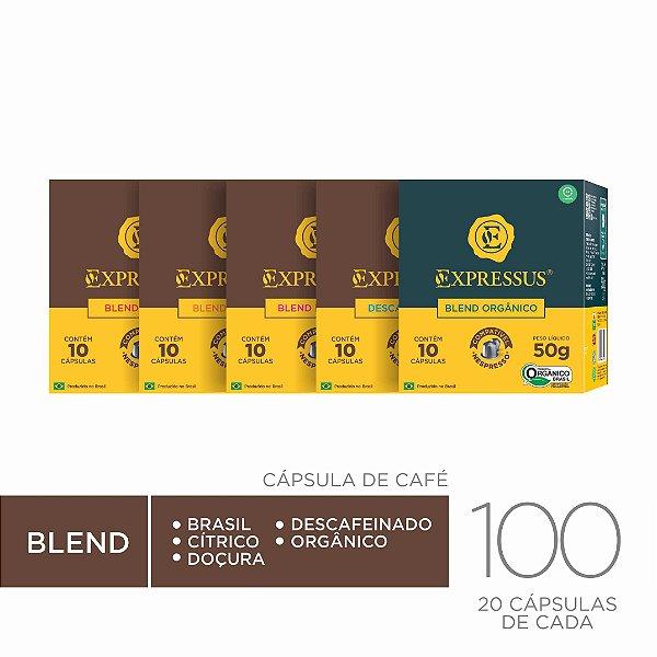 Kit c/100 Cápsulas de Café Expressus Origens do Brasil - Sortidos