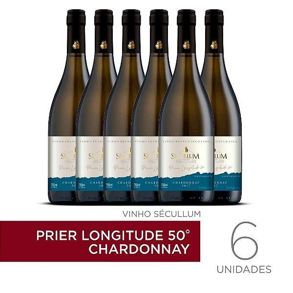 Kit c/6 Garrafas de Vinhos Sécullum Chardonnay Reserva Seco