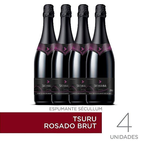 Kit c/4 Garrafas de Vinhos Sécullum Rosado Brut Tsuru