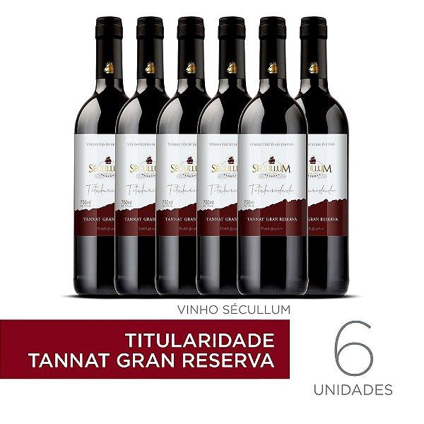 Kit c/6 Garrafas de Vinhos Sécullum Titularidade Tannat Gran Reserva