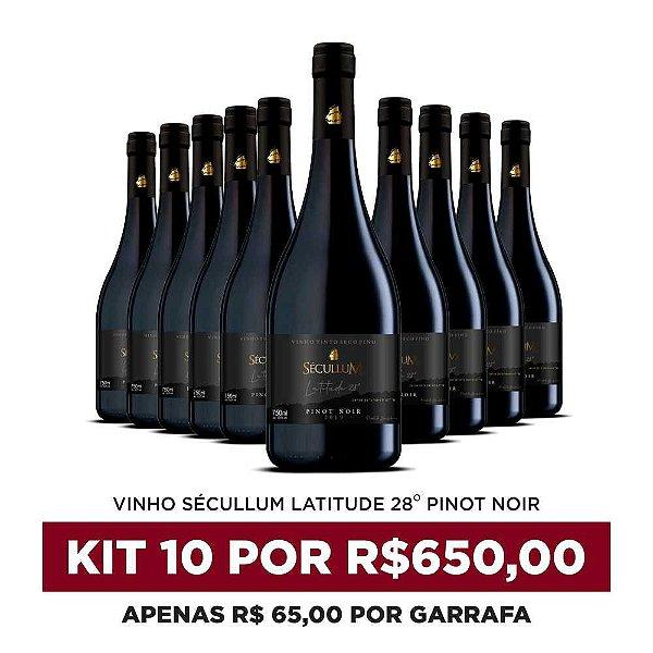 Kit c/10 Garrafas de Vinhos Sécullum Pinot Noir - Latitude 28°