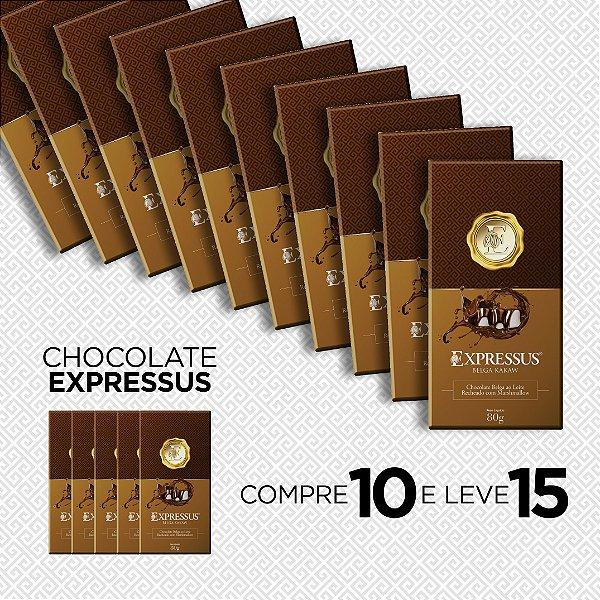 Compre 10 e Ganhe + 5 Barras de Chocolate Belga ao Leite com Recheio de Marshmallow