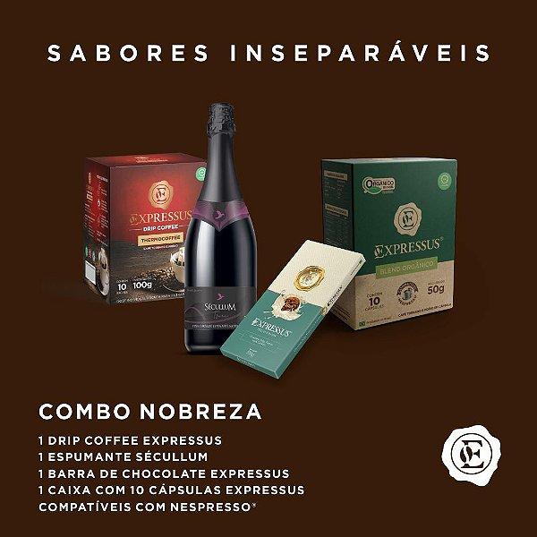 Combo Nobreza - Café, Espumante e Chocolate