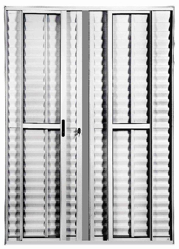 Porta Balcão 6 folhas - Com fechadura - Branco