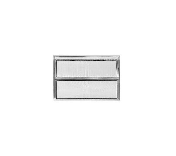 Vitrô Basculante 1 Sessão / Alumínio Brilhante / Linha Normatizada